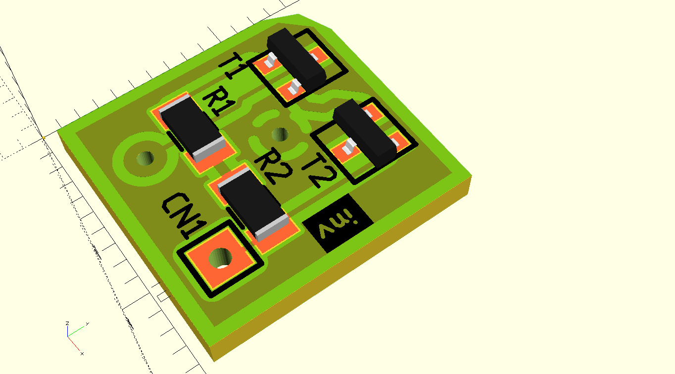 pcb-rnd pool - Openscad exporter
